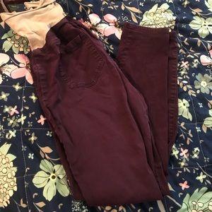 Motherhood maternity eggplant color dress pants